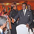 Jacqueline NIZET et M. Fologo, Président du CES ivoirien