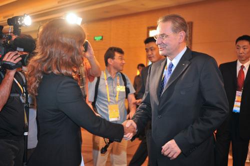 Avec Jacques Roggue, Président du CIO