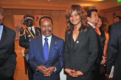 Avec Omar Bongo, Président du Gabon et Doyen des Présidents francophones.