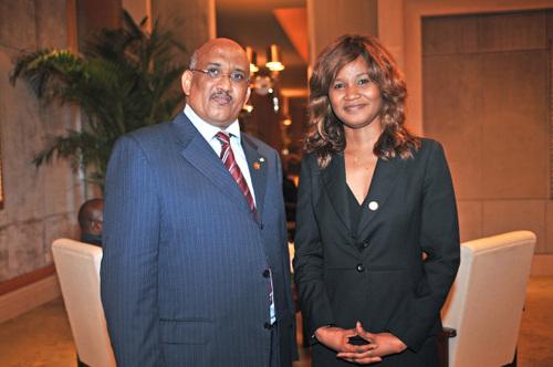 Avec le Président de Djibouti