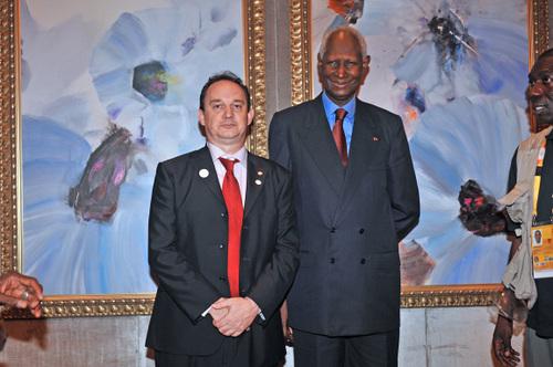 Abdou Diouf, Ancien Président du Sénégal et SG de l'Organisation Internationale de la Francophonie.