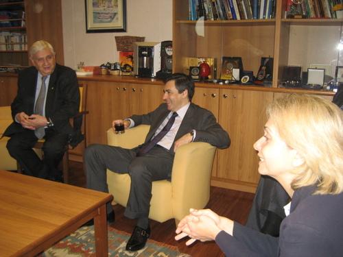 François Fillon et Valérie Pécresse avec la délégation UMP du Japon.