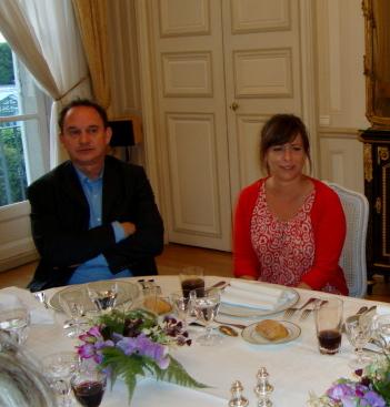 Francis NIZET et Olivia Richard, assistante parlementaire du Sénateur del Picchia