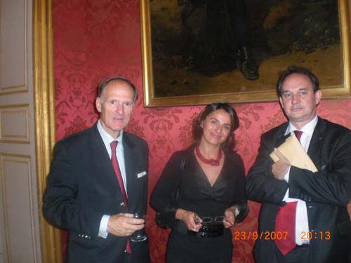 Avec M. Seingry, Conseiller de Belgique et Laurence Azzena Conseiller de Grande Bretagne.