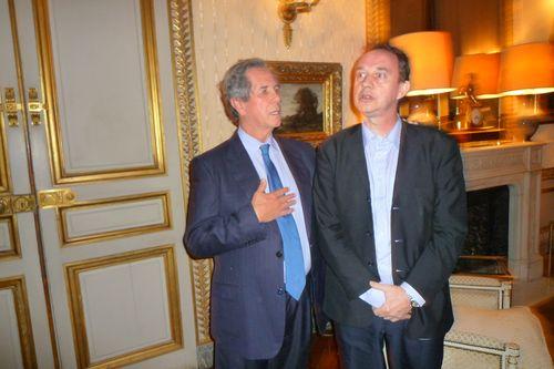 Avec Jean-Louis Debré, Président du Conseil Constitutionnel.