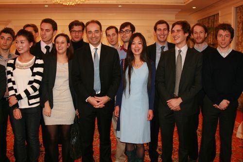 Avec les jeunes de la Délégation UMP Chine
