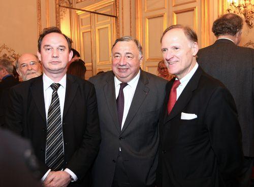 Réception par Gérard Larcher, Président du Sénat, dans les salons du Palais du Luxembourg.