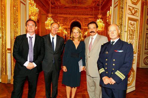 Réception organisée par Joëlle Garriaud-Maylam dans les salons de la Marine, Place de la Concorde.