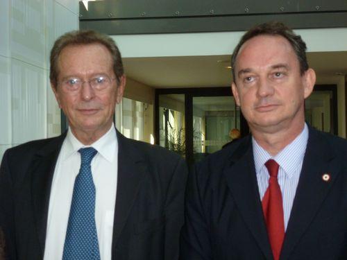 Avec Dominique Baudis, Défenseur des Droits.