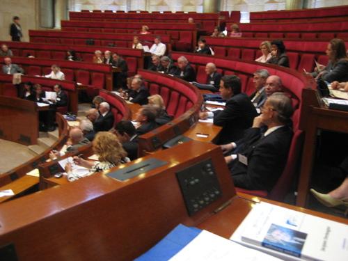 Dans l'hémicycle, en session plénière
