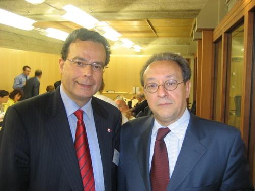 Le Président de la Commission de l'Enseignement et le Directeur de la Mission Laïque