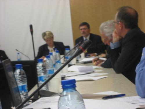En commission des Affaires Culturelles et de l'Enseignement avec les responsables du CNED
