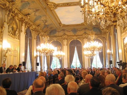 Ouverture solenelle de la session dans la salle à manger du Quai d'Orsay