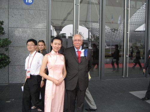 Au Pavillon d'accueil de l'expo universelle de Shanghai.