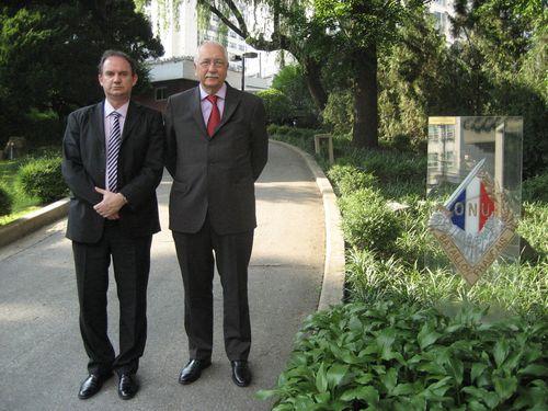 A l'Ambassade de France en Corée du Sud avec le Sénateur Duvernois.