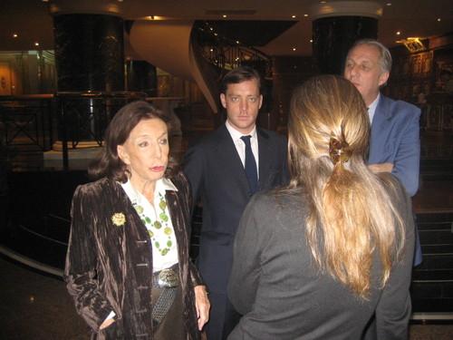 Le Sénateur, Alexandre, Philippe et Isabelle.